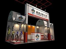 自行车展厅展览模型