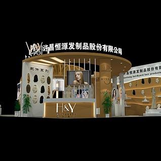 12X15发制品展3d模型