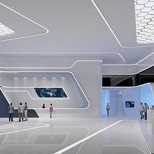 智能会议厅3d模型
