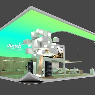 晶科能源展台展示设计3d模型