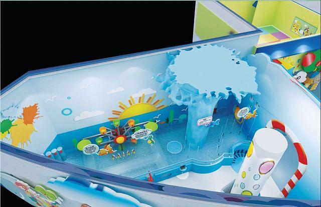 科技馆戏水乐园模型