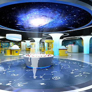 科技馆3d模型