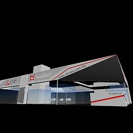 公司贸易展厅展览模型