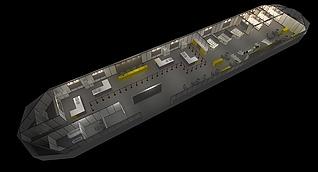 超长展厅展展览模型