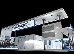 国外单车展展览模型