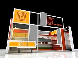 OPYSTAY展展览模型