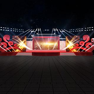 舞台设计3d模型