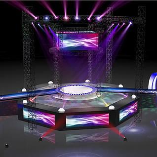 演唱会舞台,现代舞台3d模型