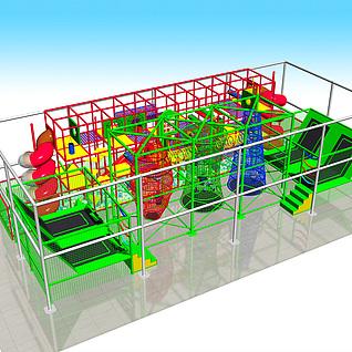 儿童淘气堡,乐园,儿童拓展3d模型