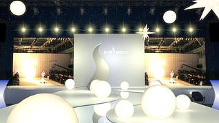 T台时装秀展览模型