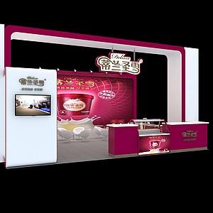 蒂蘭圣雪冰淇淋展3d模型