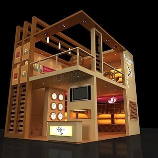 圣佐治商贸公司展厅3d模型