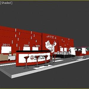 8X24万达展台展览模型