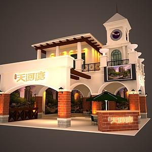 8X8天河湾展览模型
