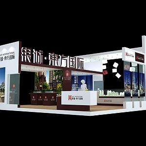 9X10银诚东方国际展览模型