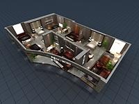 现代家具展厅3d模型