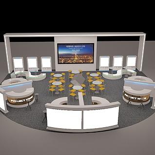 房地产商场巡展3D模型3d模型