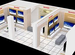 夏普电视展览展示店展览模型