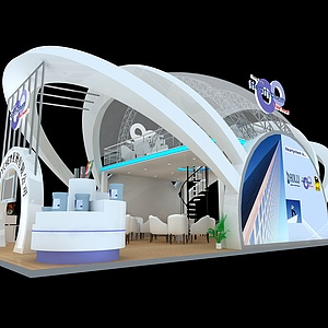 科技公司展廳展覽模型