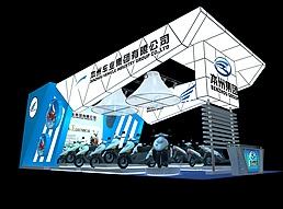 电动车展厅展览模型