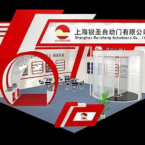 自动门公司展厅展览模型