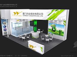 新能源材料有限公司展览模型