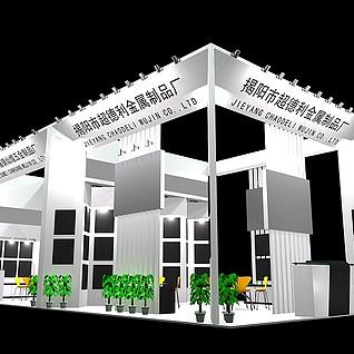 现代展厅3d模型