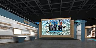 科技教育展馆3d模型
