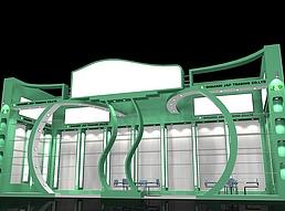 五金综合货物展示展厅展览模型