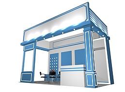 小型灯饰展示展厅展览模型