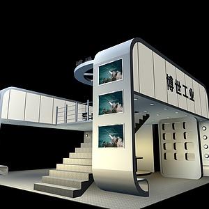 雙層帶樓梯<font class='myIsRed'>科技展廳</font>展覽模型