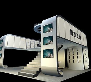 双层带楼梯科技展厅