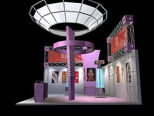 现代前卫科技展厅展览模型