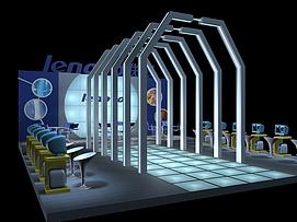 联想电脑展示展览模型
