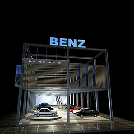 奔驰<font class='myIsRed'>汽车展厅</font>展览模型