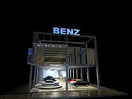 奔驰汽车展厅展览模型