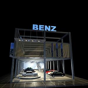 奔馳<font class='myIsRed'>汽車展廳</font>展覽模型