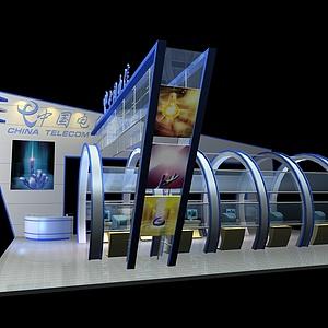中国电信展示展览模型