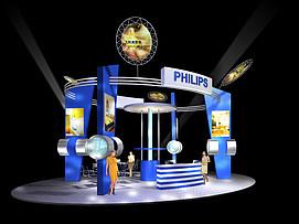 飞利浦照明展厅展览模型