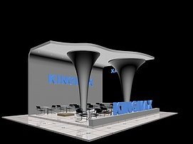KINGMAX电脑硬件展览模型