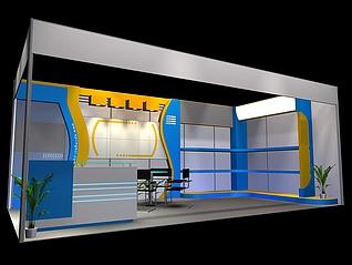 現代展臺展覽模型