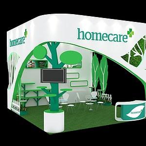 Homecare展台展览模型