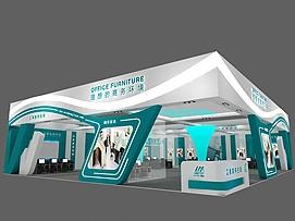 立美商务家具展览模型