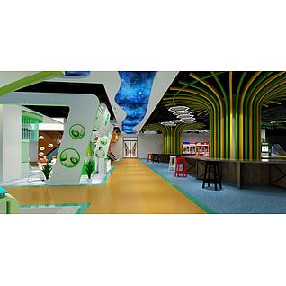 商场游乐区域展览模型