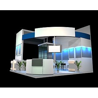 现代展台展览模型