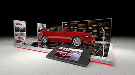 汽车展台展览模型