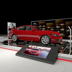 汽車展臺展覽模型