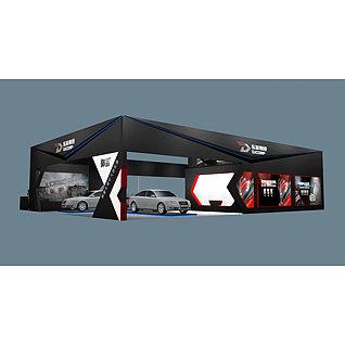 东箭集团汽车展台展览模型
