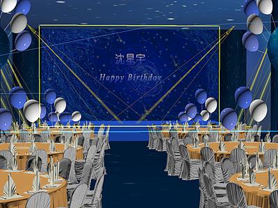 生日宴舞臺展覽模型