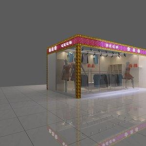 服装店展览模型